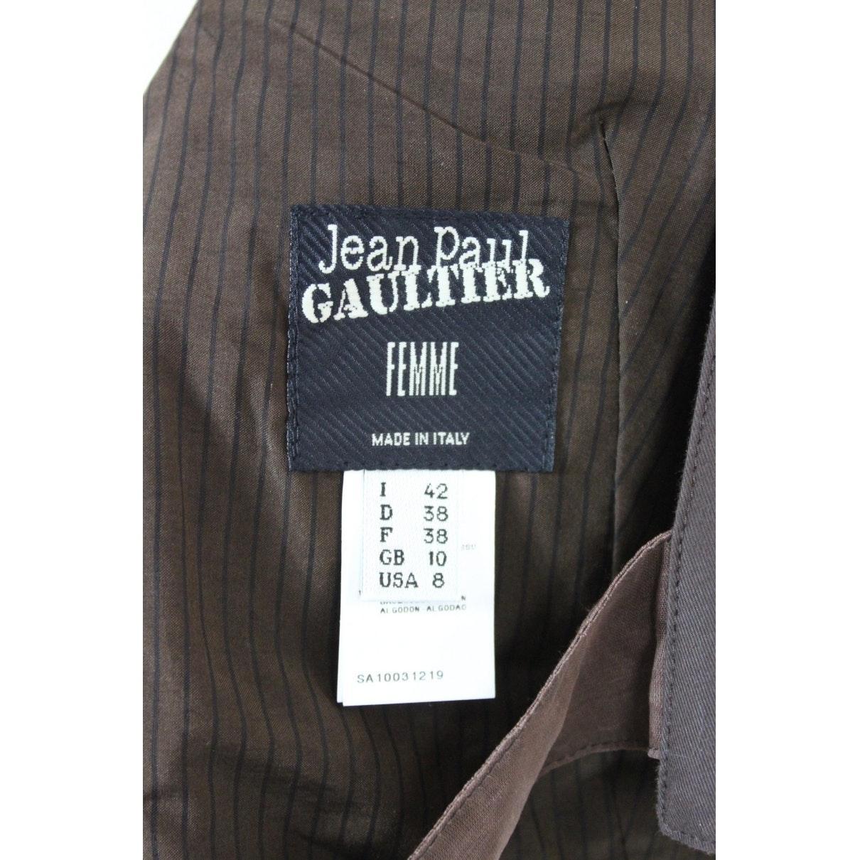 Top N en Coton Marron Jean Paul Gaultier