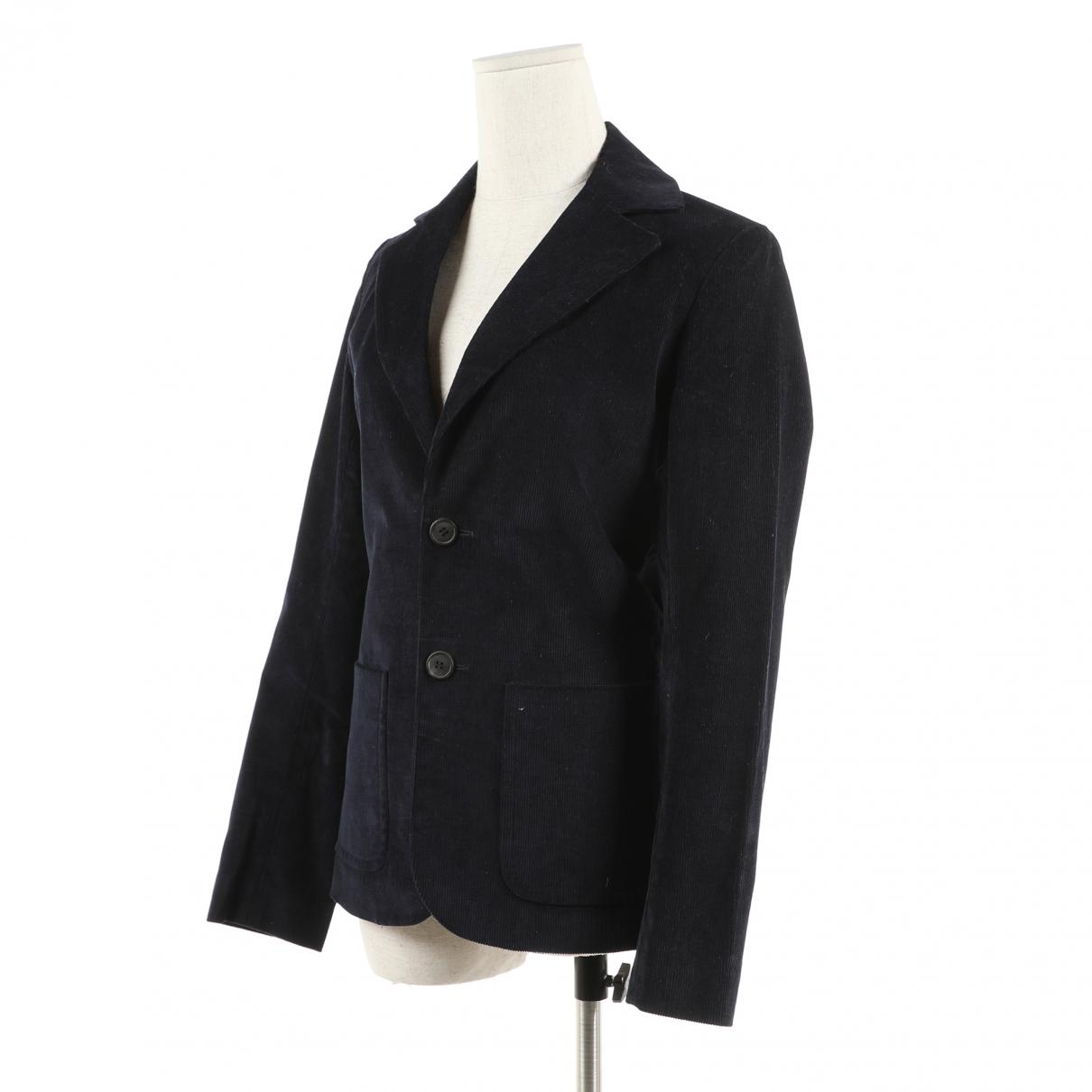 1a60f64468 A.P.C. Navy Cotton Jacket in Blue - Lyst