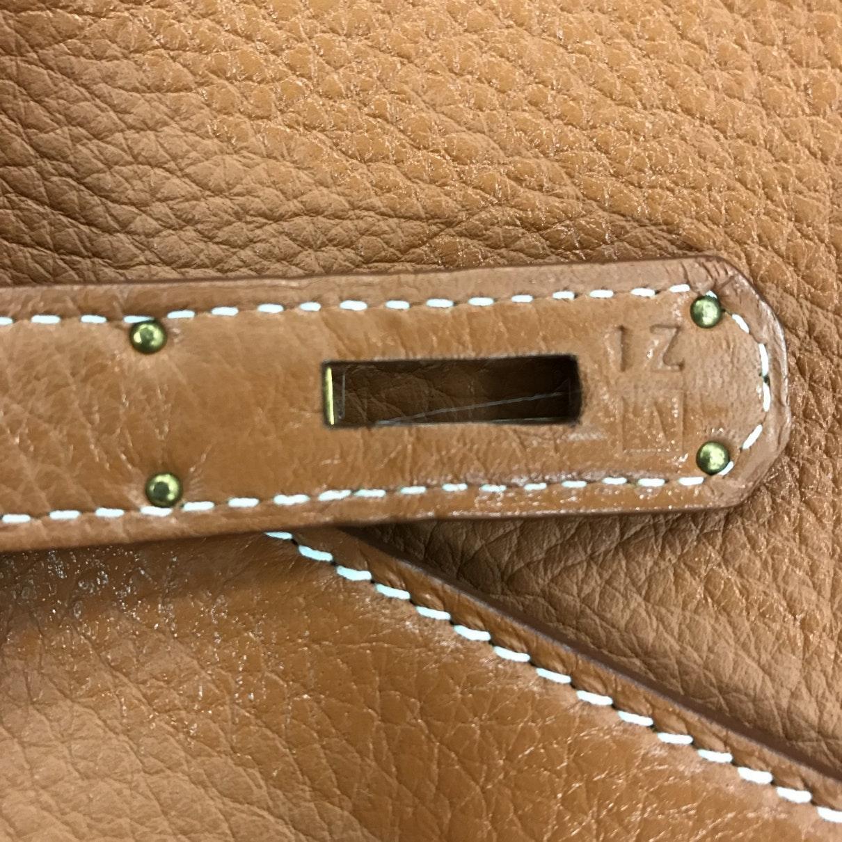 Sac à main Kelly 35 en Cuir Marron Hermès en coloris Marron FMGt