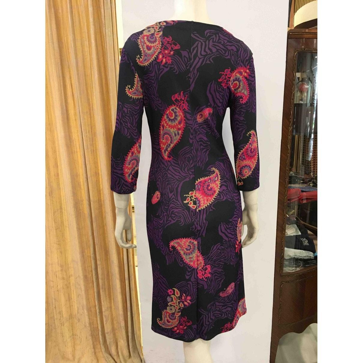 Vestido en poliéster multicolor Versace