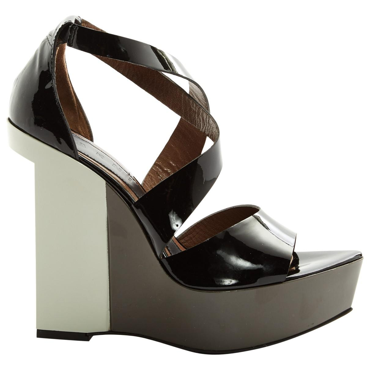 Eastbay Pre-owned - Patent leather sandals Marni Official Site For Sale Sale Classic Outlet Wiki Free Shipping With Mastercard cssPyciHOe