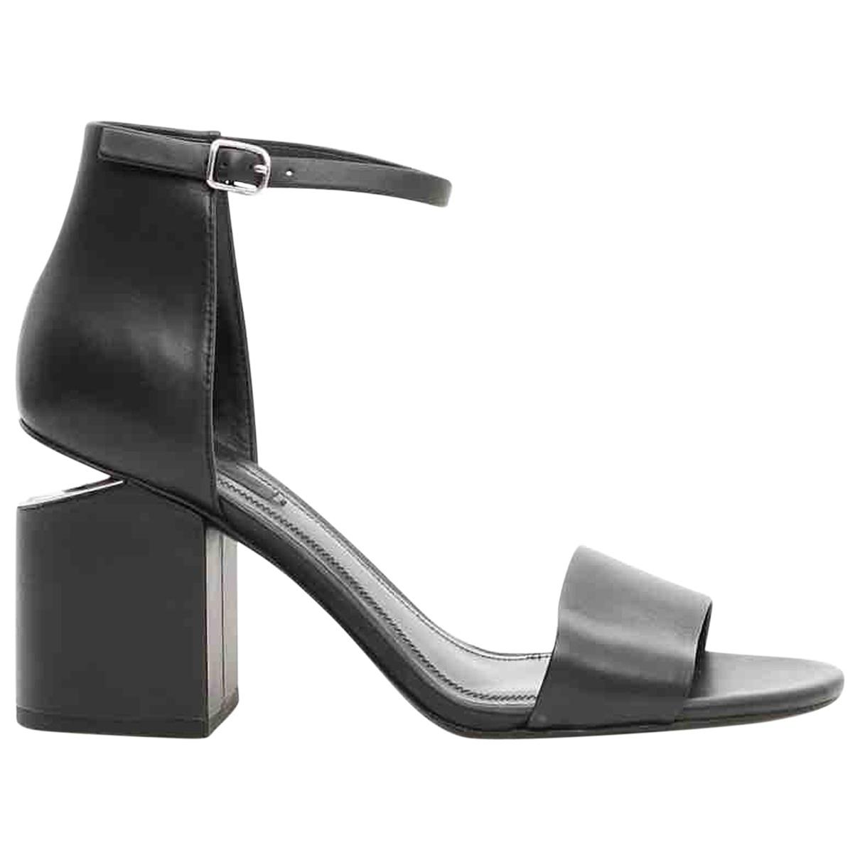 72 Wang Alexander Lyst In Black Leather Sandals Save wfwd0q5n