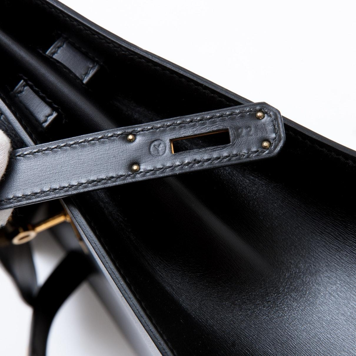 Sac à main Kelly 32 en Cuir Noir Cuir Hermès en coloris Noir 84uv