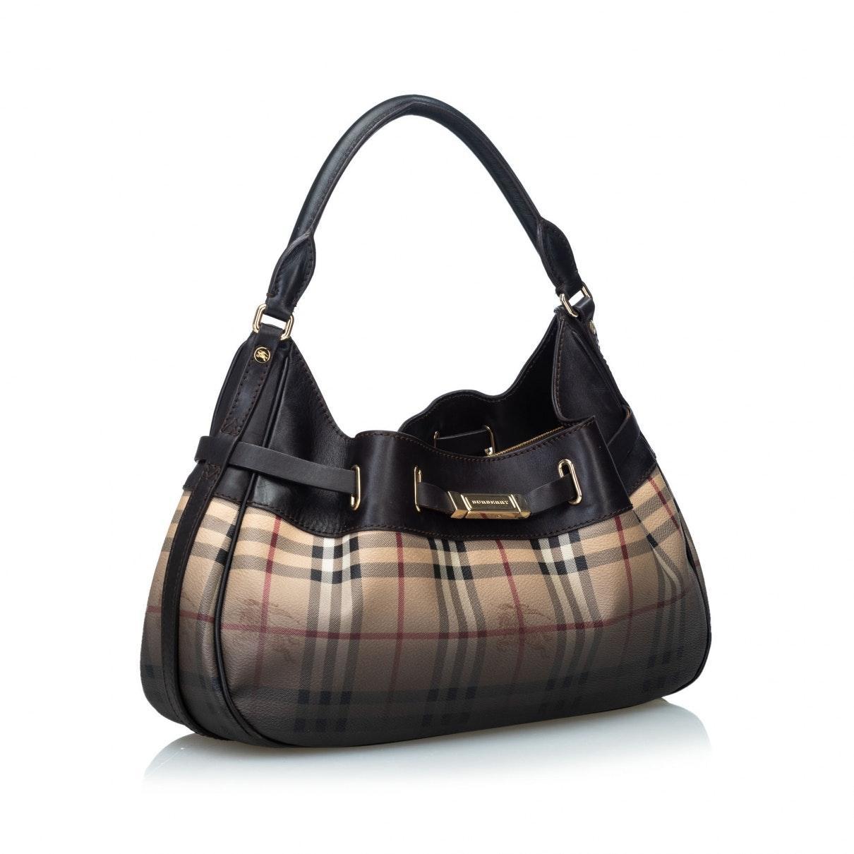 Burberry Leinen Handtaschen in Braun 4IFAy