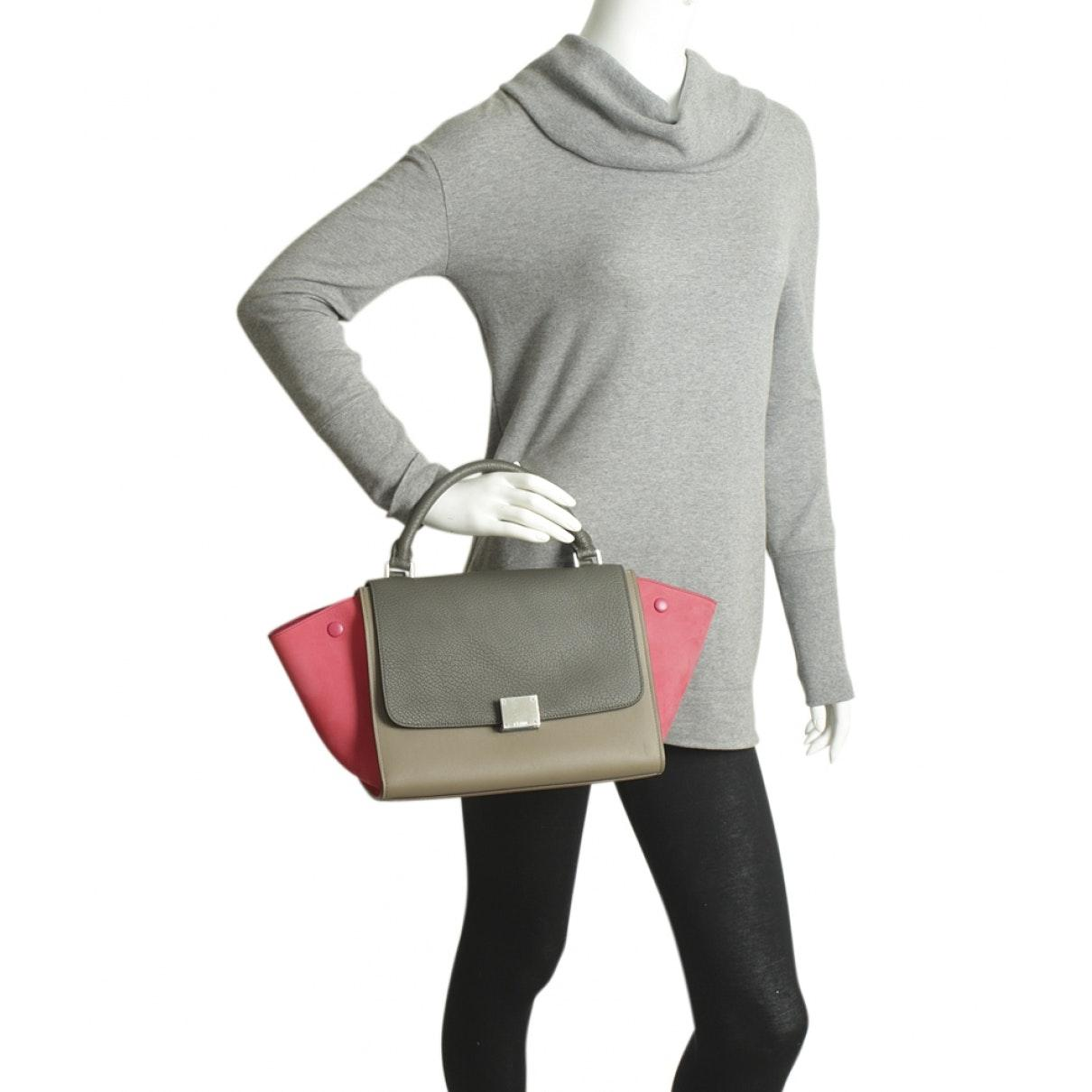 Celine Leder Trapèze Leder Handtaschen Zb2ie