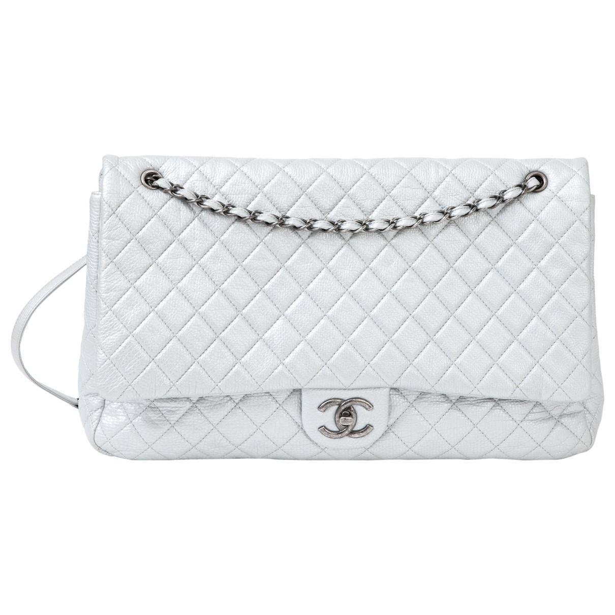 221f98a63b18 Chanel. Women s Metallic Pre-owned Timeless Silver Leather Handbags.  5