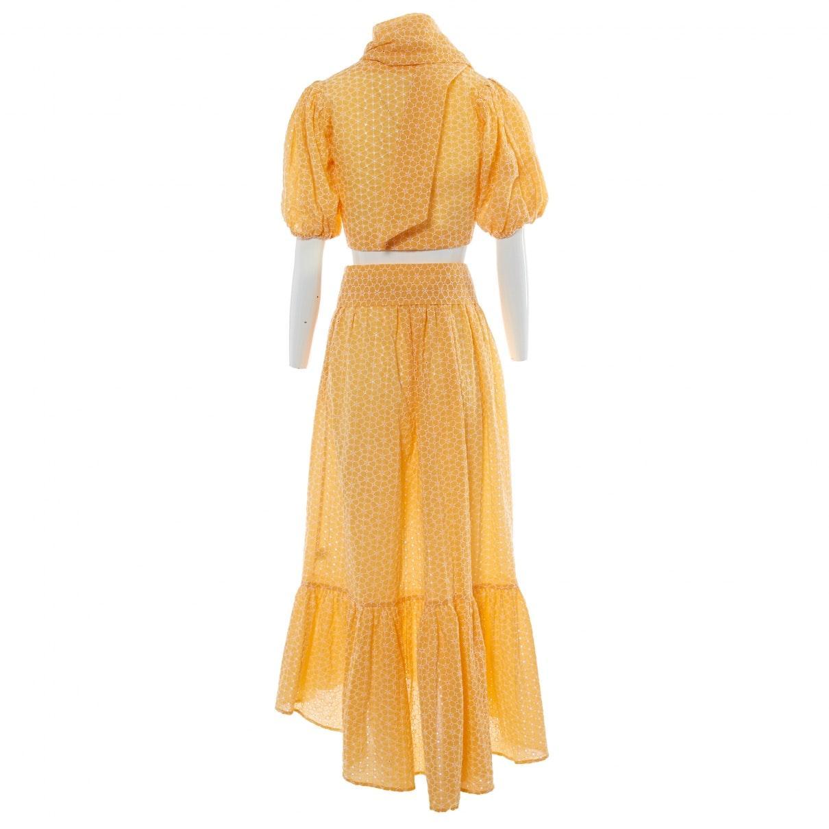 Falda en algodón amarillo Lisa Marie Fernandez de Algodón de color Amarillo