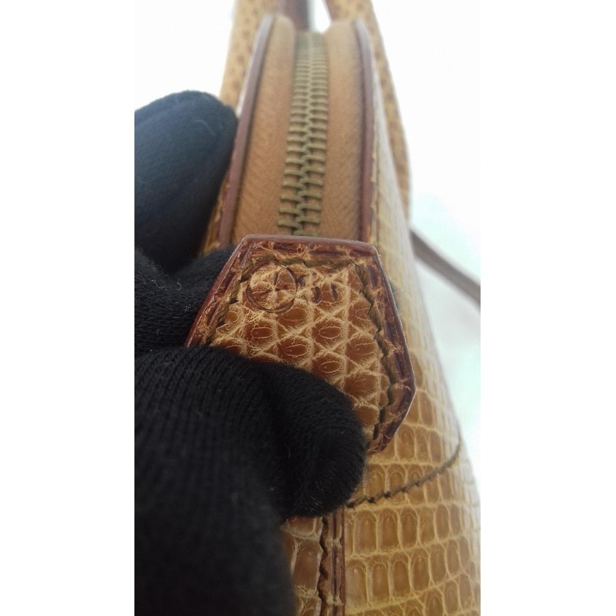 Sac à main Bolide en Cuir exotique Beige Hermès fzQF
