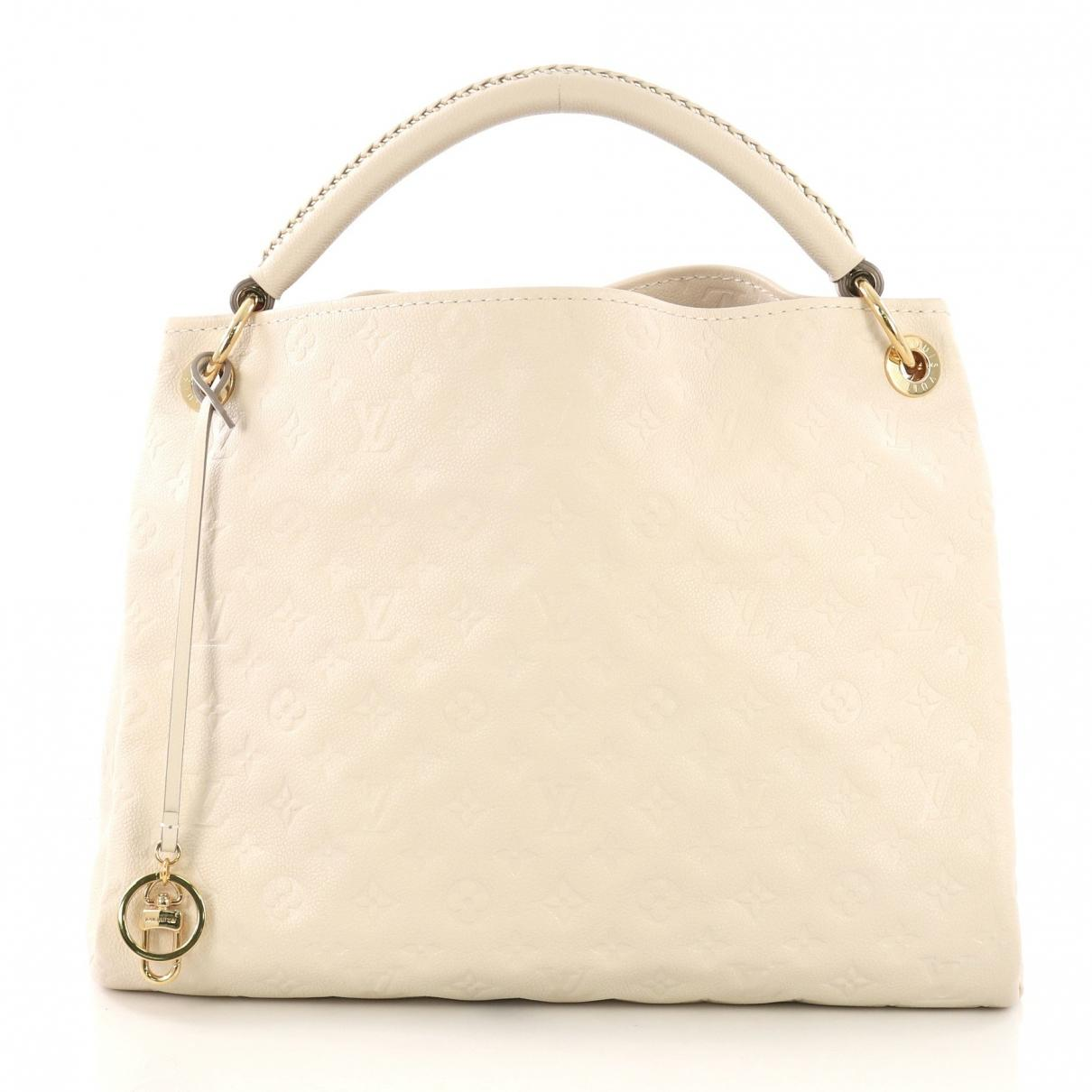 27a3640bc90b Louis Vuitton Pre-owned Artsy White Leather Handbags in White - Lyst