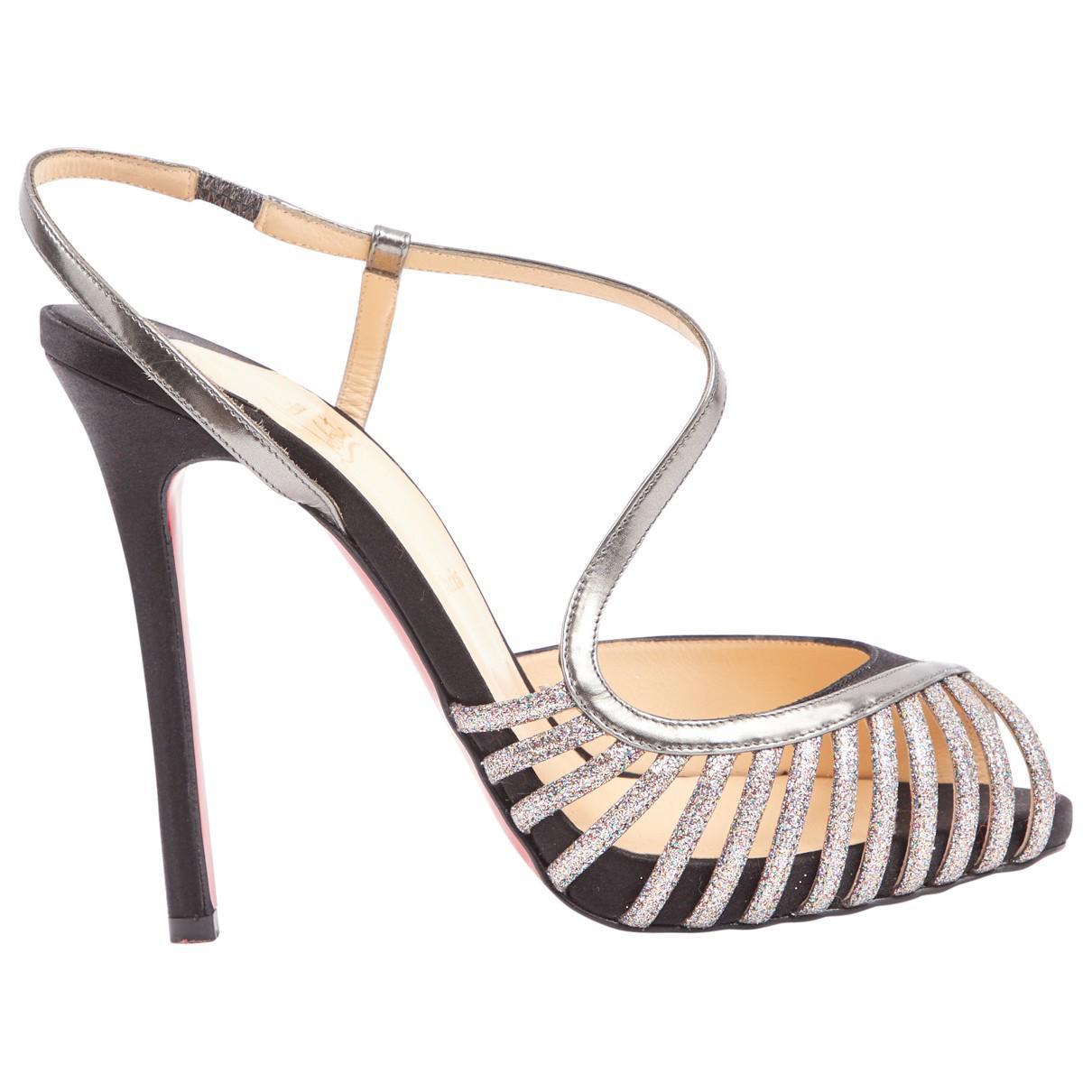 Pre-owned - Glitter sandals Christian Louboutin ewCsCpe28