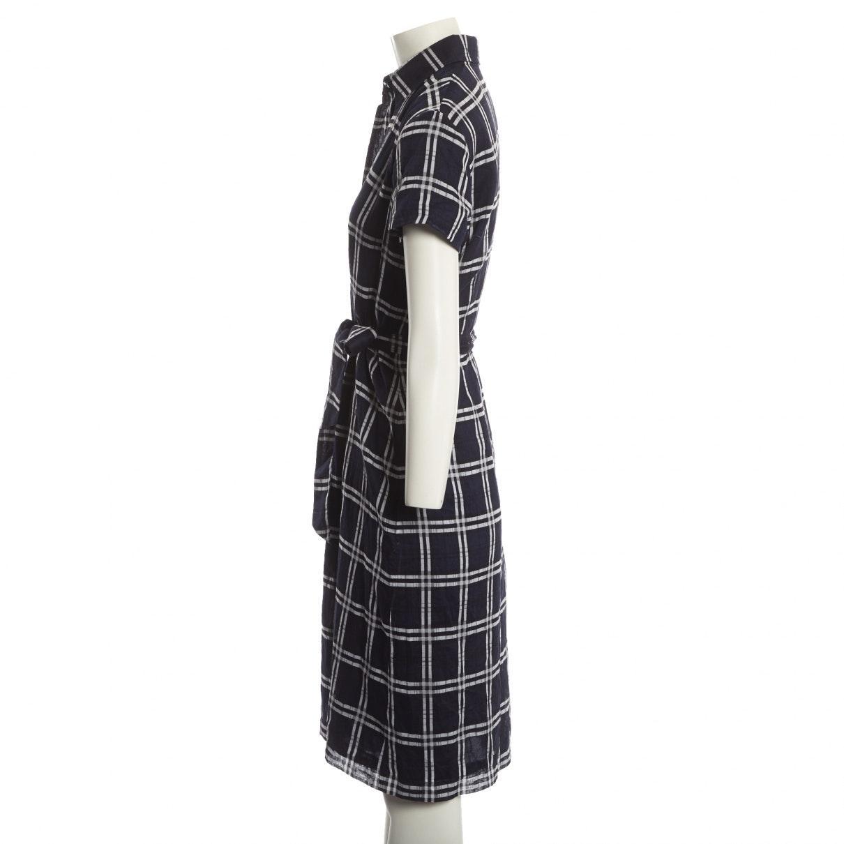 Vestido en algodón marino Burberry de Algodón