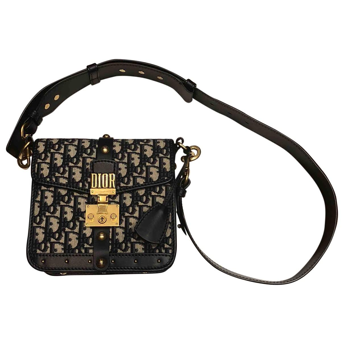 8014ec00969d Lyst dior pre owned addict cloth crossbody bag in blue jpg 1210x1210 Dior  cross body bag
