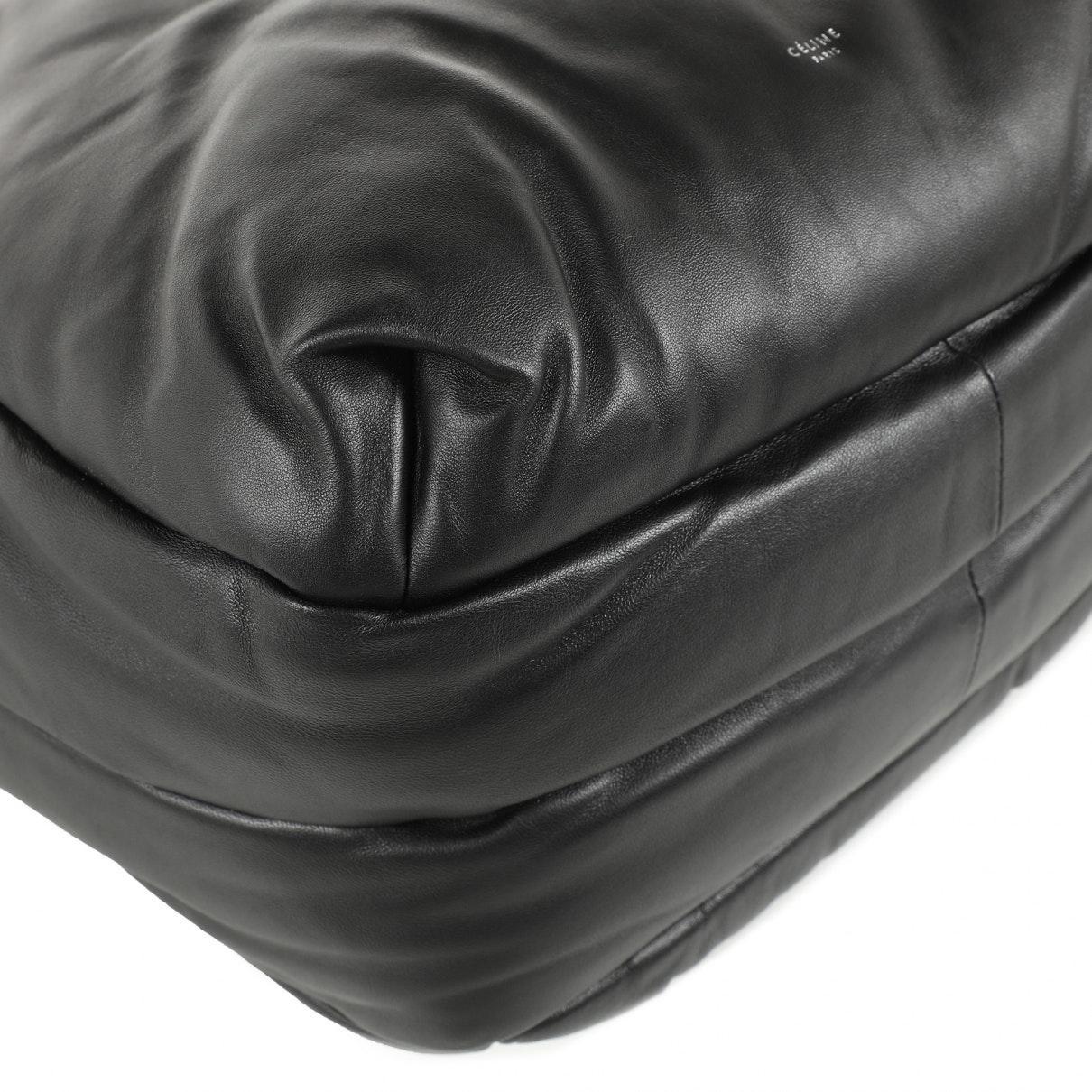 Sac à main en Cuir Noir Cuir Celine en coloris Noir
