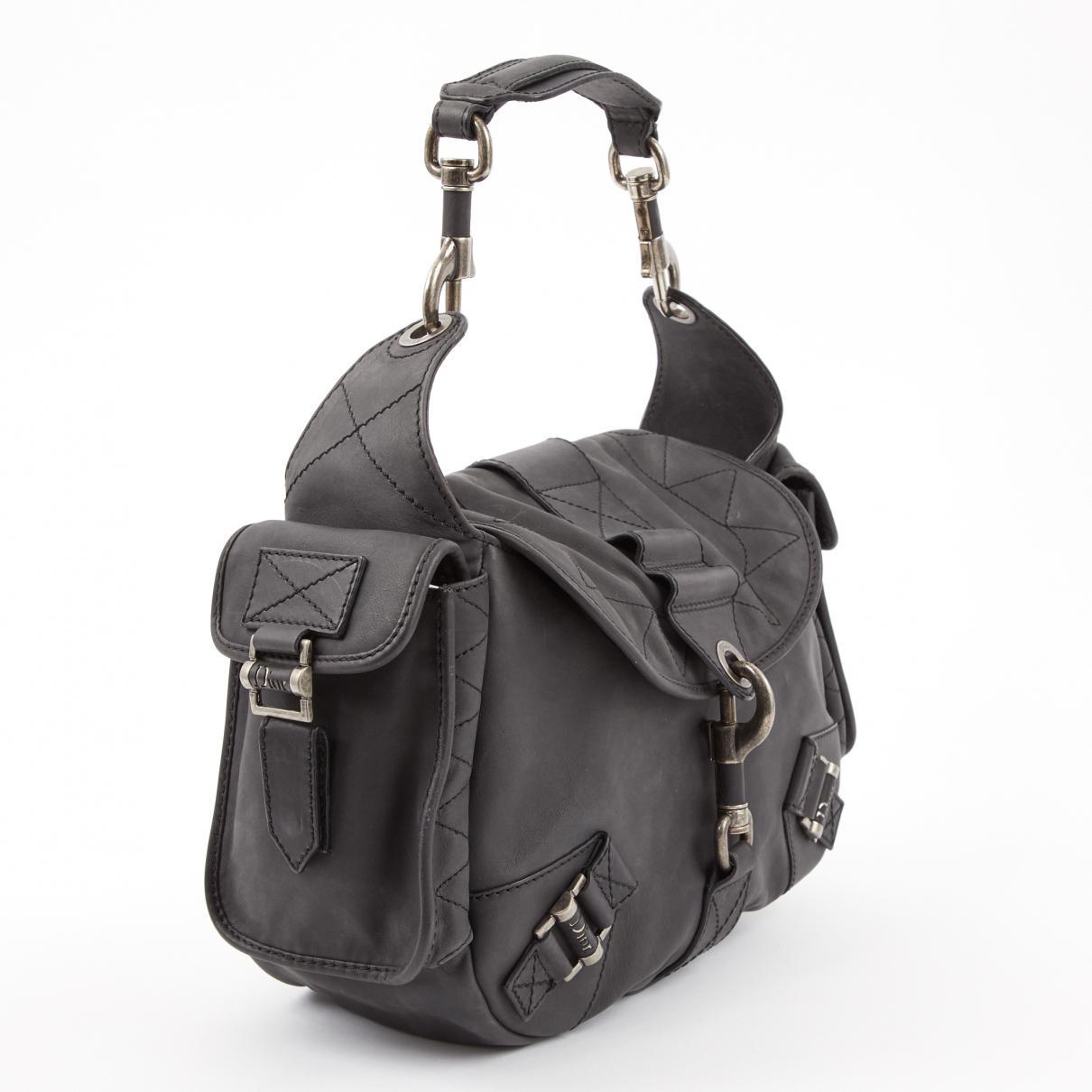 6c56beb2bdc Dior Pre-owned Vintage Grey Leather Handbags in Gray - Lyst