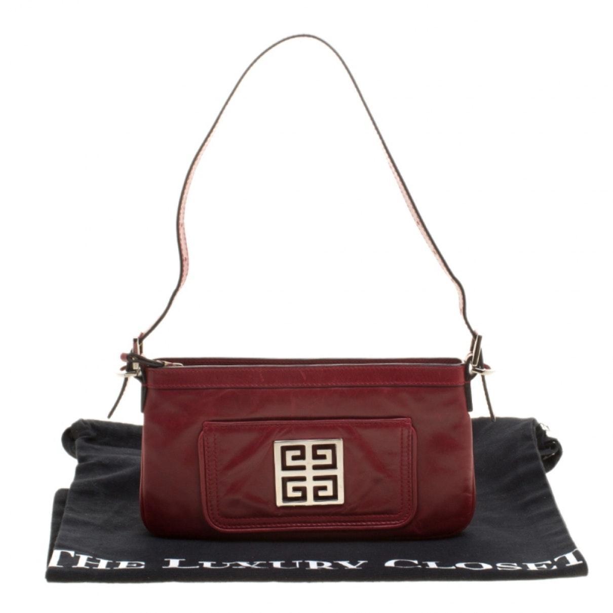 Sac à main en Cuir Rouge Givenchy en coloris Rouge plHS