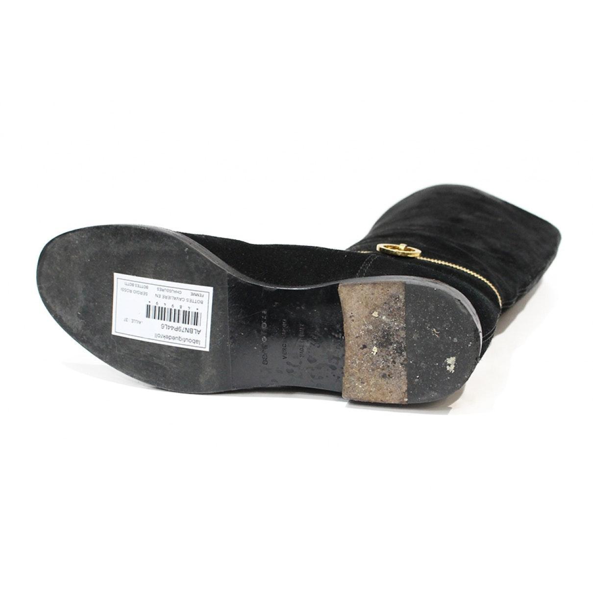 Botas en cuero negro N Sergio Rossi de color Negro