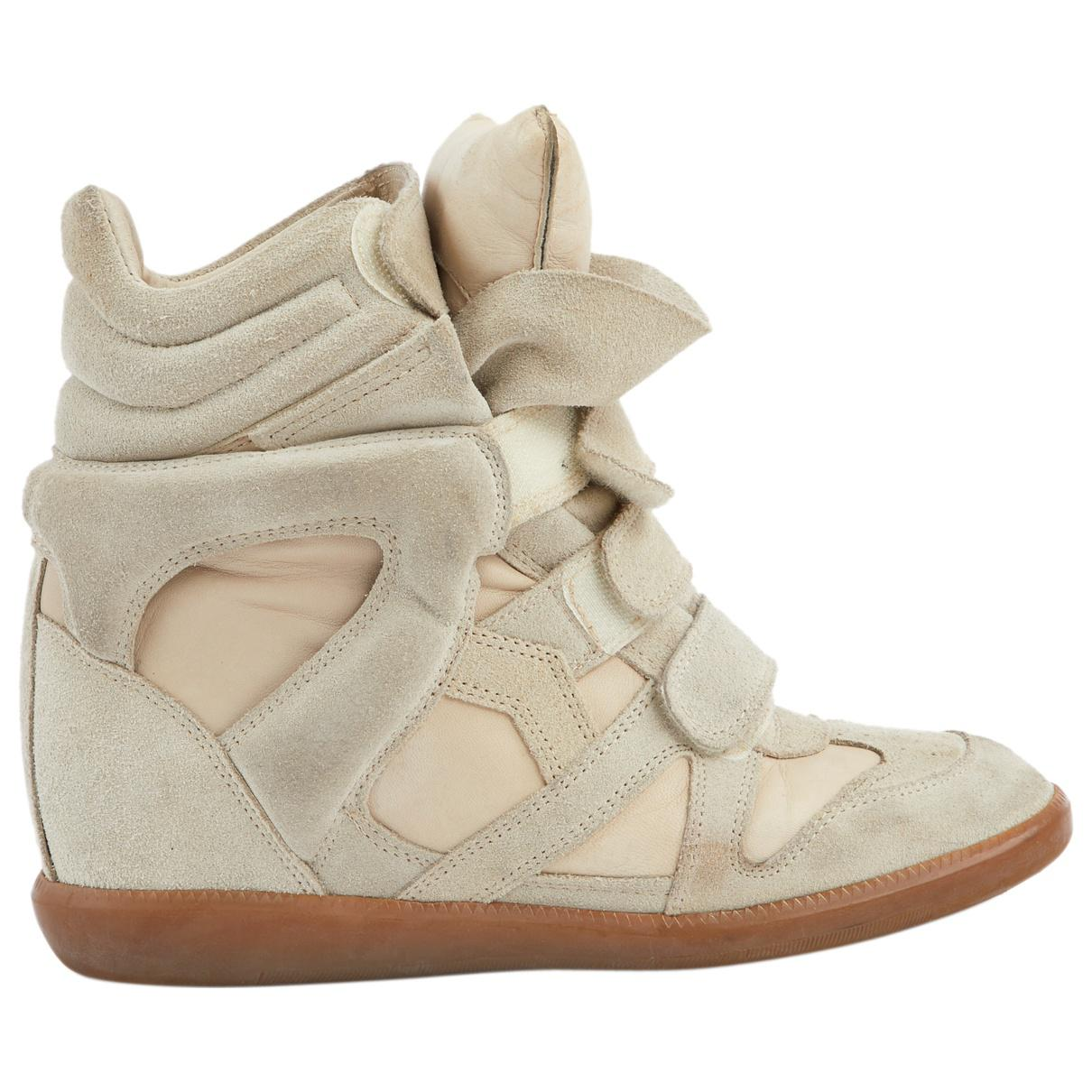 Isabel Marant Suede Pre-owned Beckett Trainers in Beige (Natural)