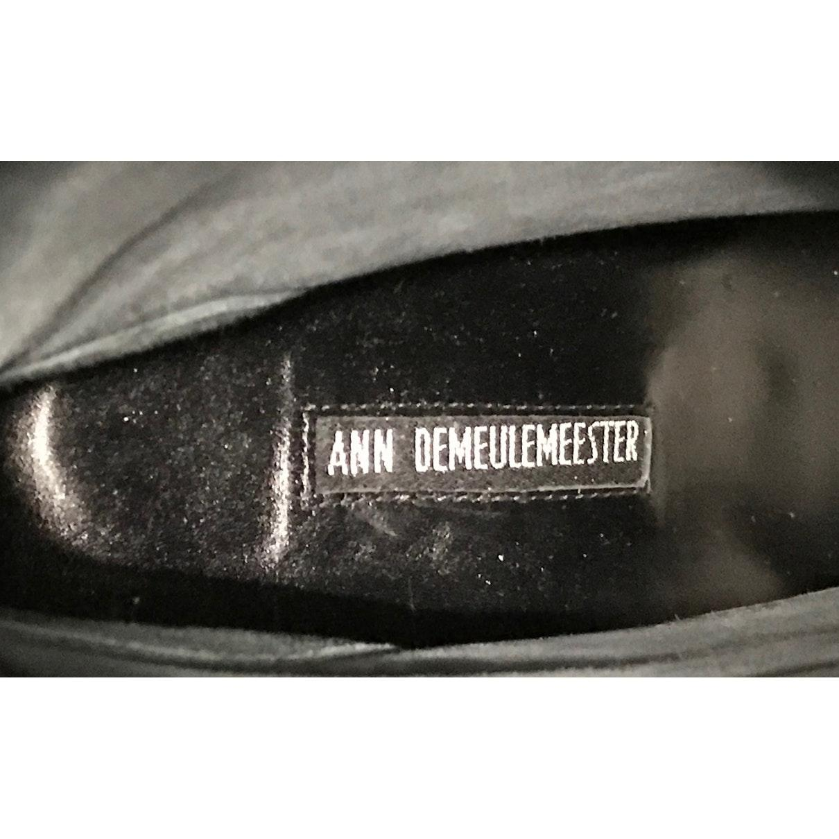 Ann Demeulemeester Leather Black Pony-style Calfskin Boots