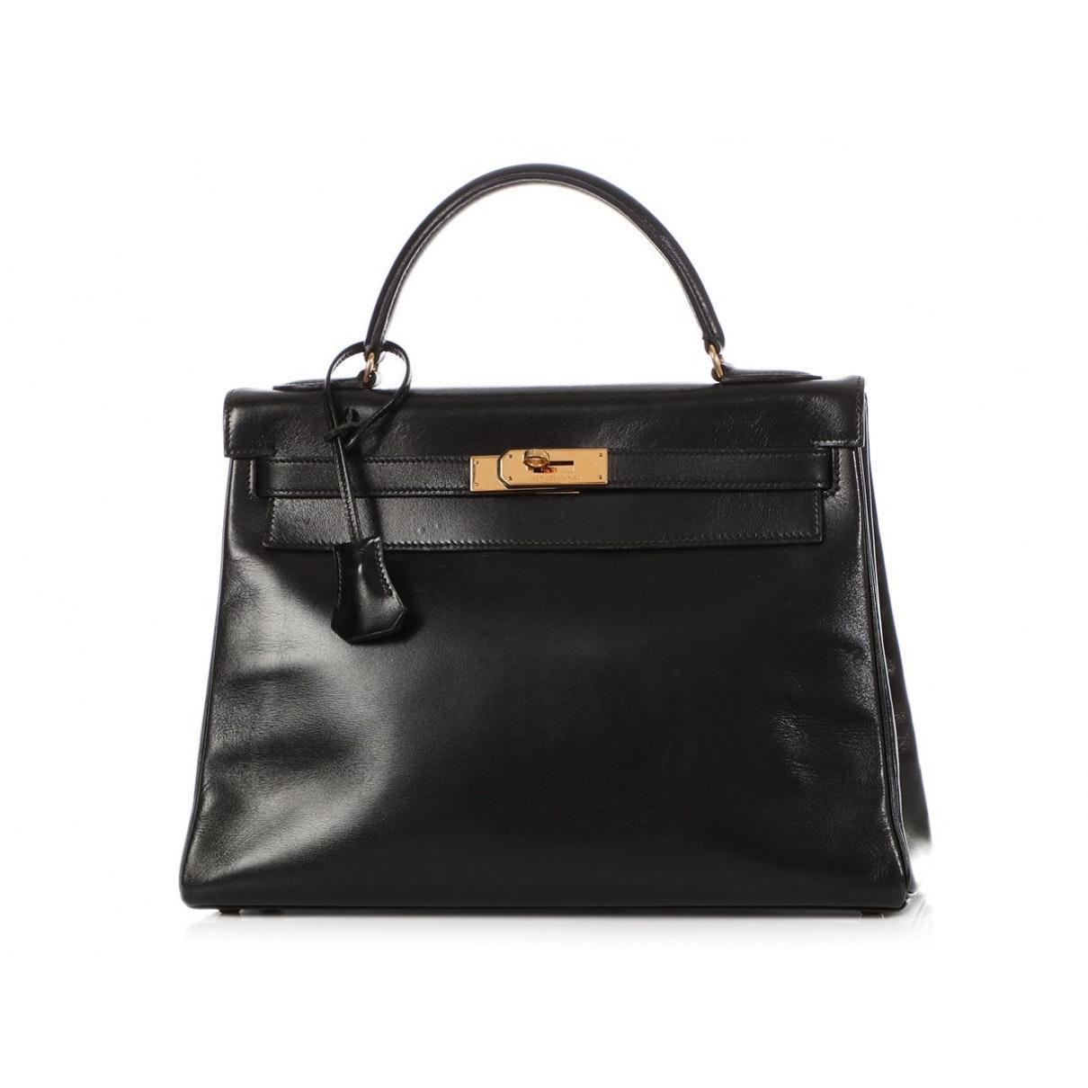 Hermès Leder Kelly 32 Leder Handtaschen in Schwarz MMxVI