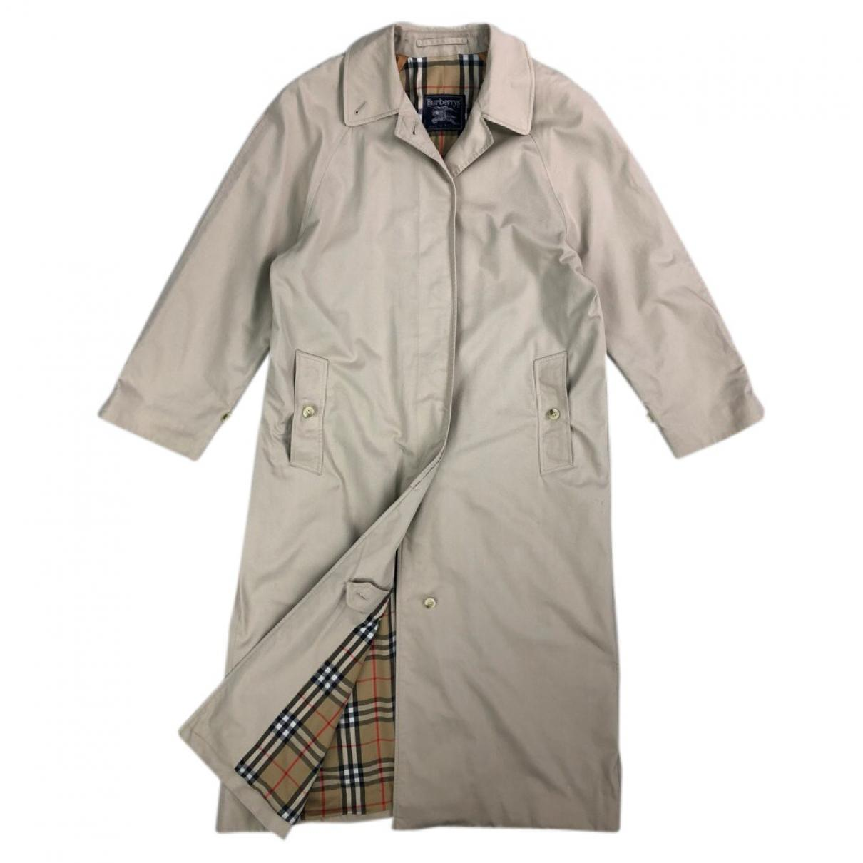 a969c33b7c7f Lyst - Burberry Pre-owned Vintage Beige Cotton Coats in Natural