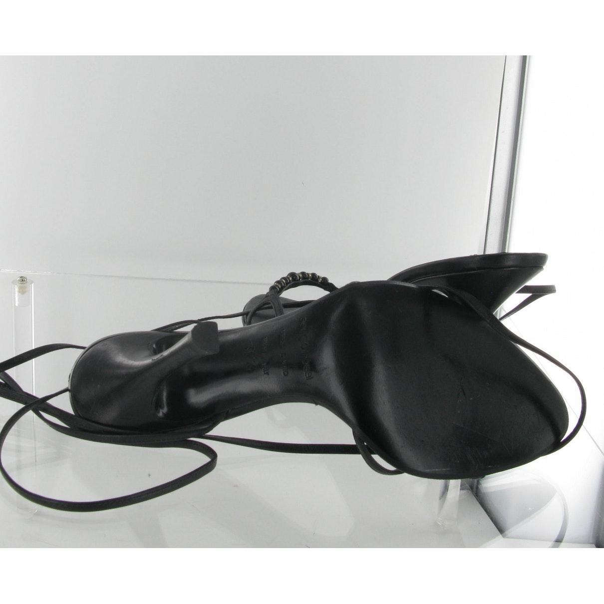 Sandalias en cuero negro N Sergio Rossi de Cuero de color Negro