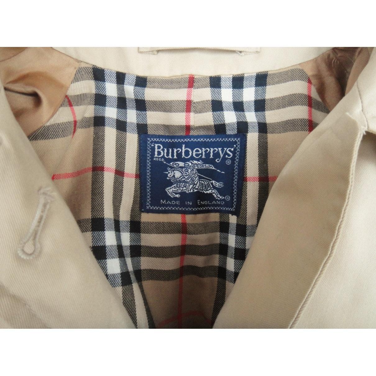 Mantel en Coton Beige Coton Burberry en coloris Neutre VNuRm