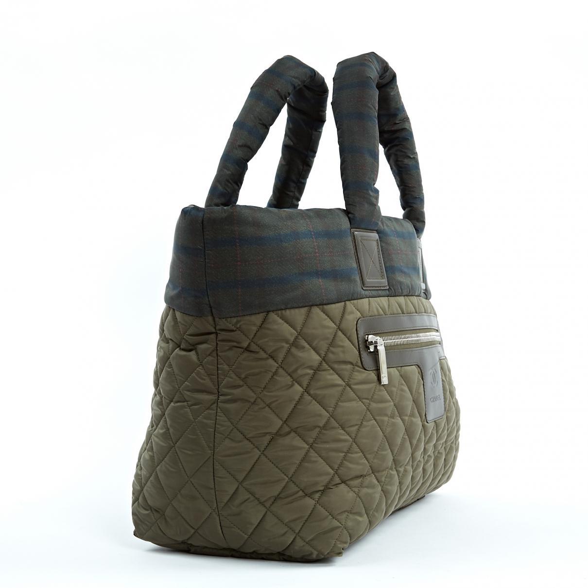 cb37b81cc93e Chanel - Multicolor Coco Cocoon Khaki Synthetic Handbag - Lyst. View  fullscreen
