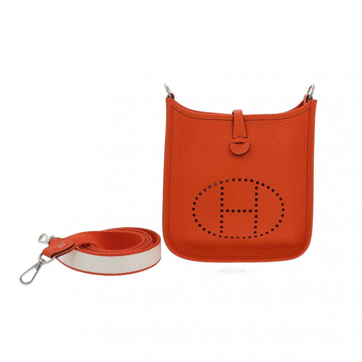 4203fd9f2f03 Lyst - Hermès Pre-owned Evelyne Leather Crossbody Bag in Orange
