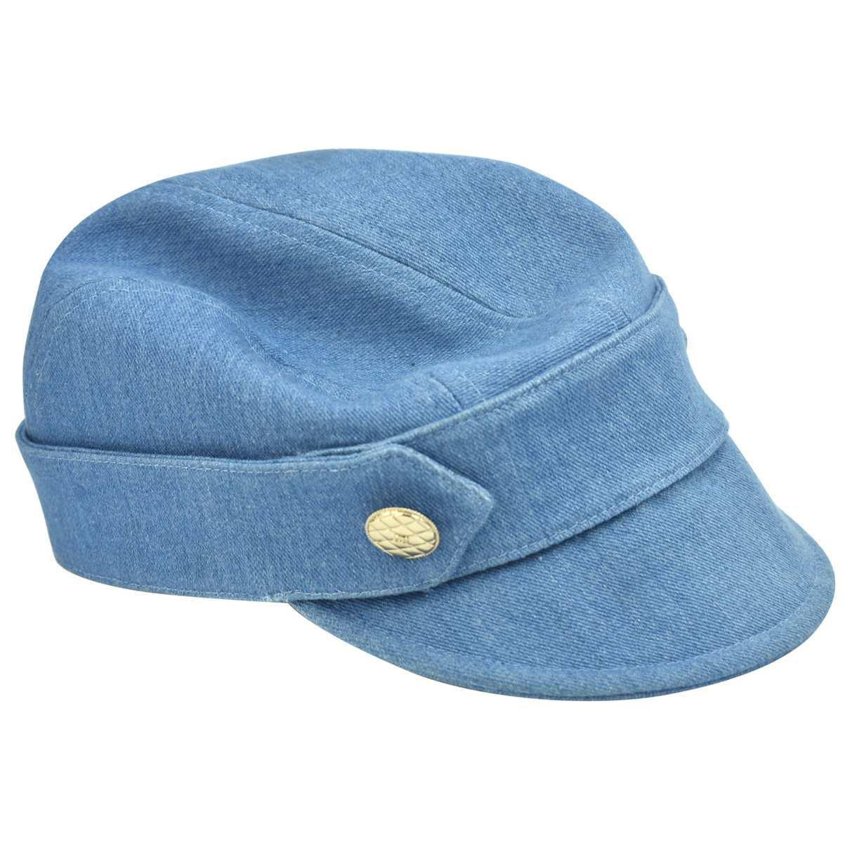 dfef59ea Chanel Hat in Blue - Lyst
