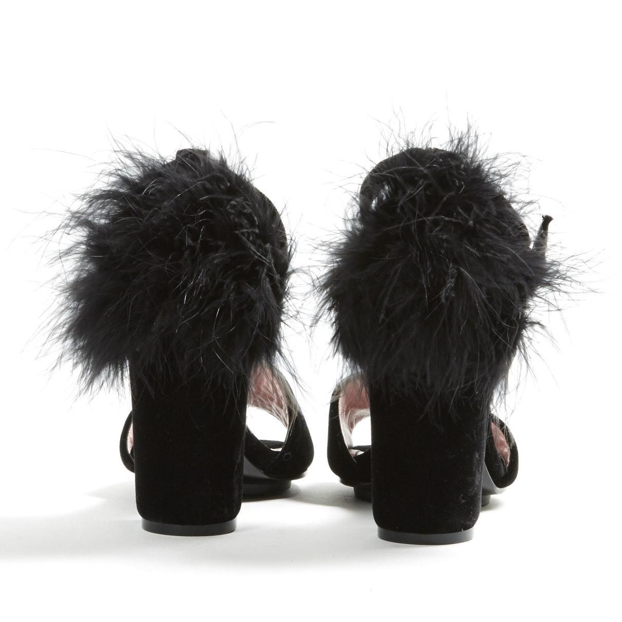 Tacones en terciopelo negro Sonia Rykiel de Terciopelo de color Negro