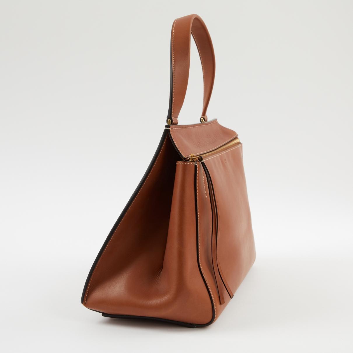 8293b7fca9a0 Céline - Pre-owned Edge Brown Leather Handbags - Lyst. View fullscreen
