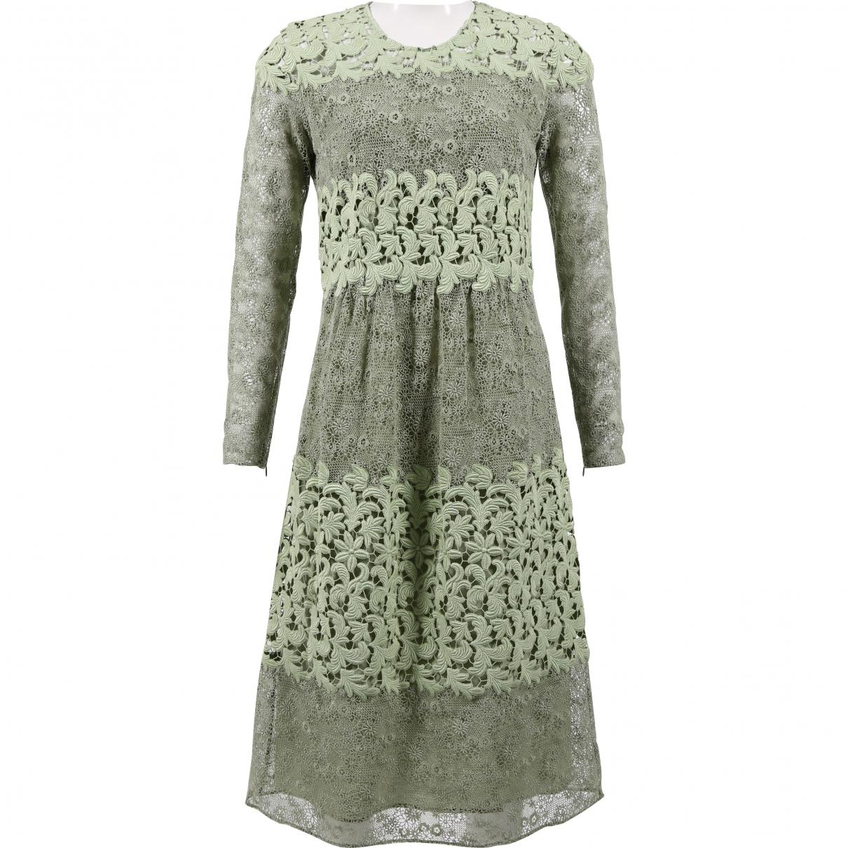 f451f2f1eef7 Lyst - Burberry Pre-owned Mid-length Dress in Green