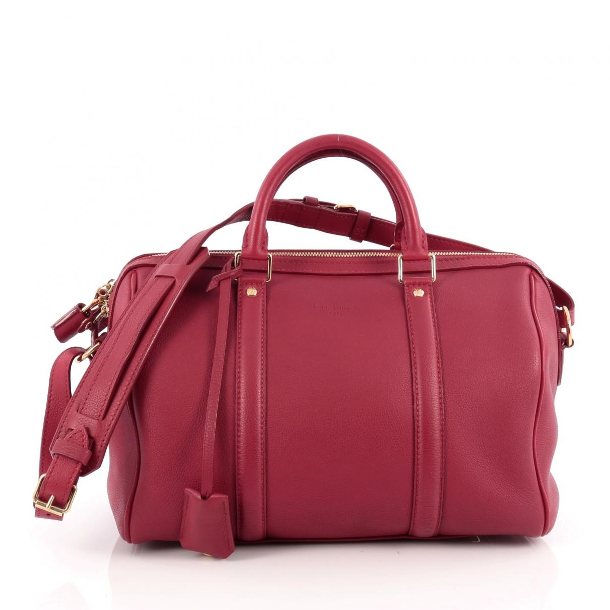 Lyst - Louis Vuitton Pre-owned Red Leather Handbag in Red c27ea2b21292f