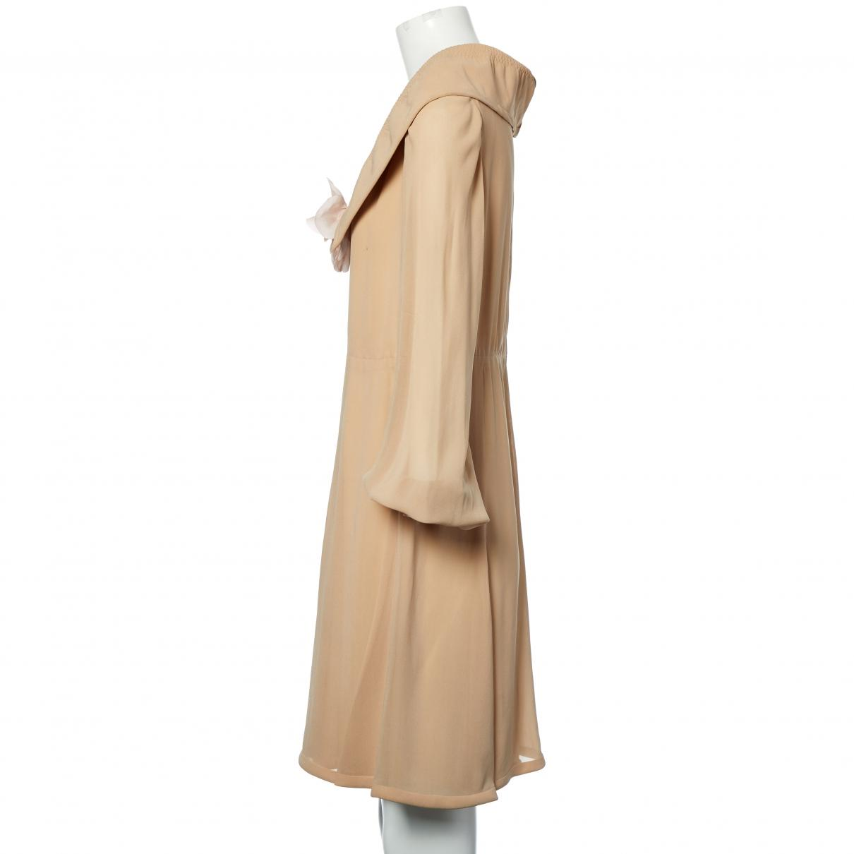 f8e8f8ef Lyst - Balmain Pre-owned Vintage Beige Silk Dresses in Natural