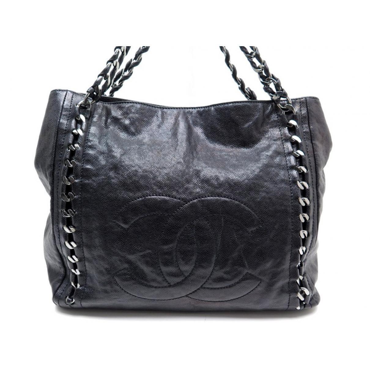 b18f88546d94 Lyst - Sac à main en cuir Chanel en coloris Noir