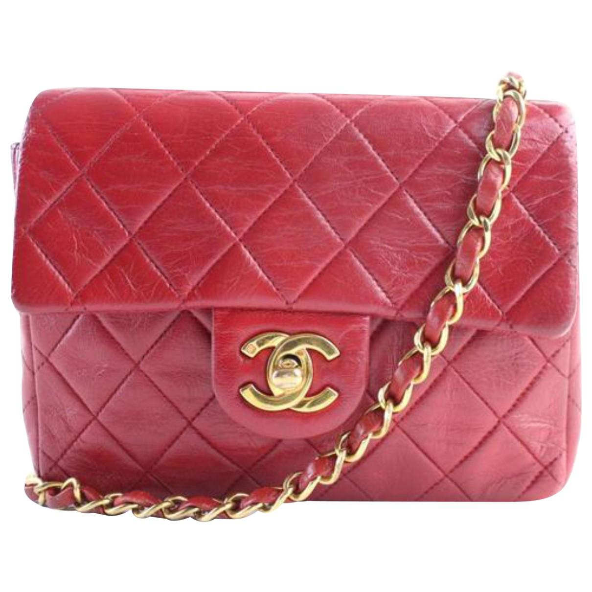 Chanel Vintage Red Leather Handbag in Red - Lyst 5d30c995d0742