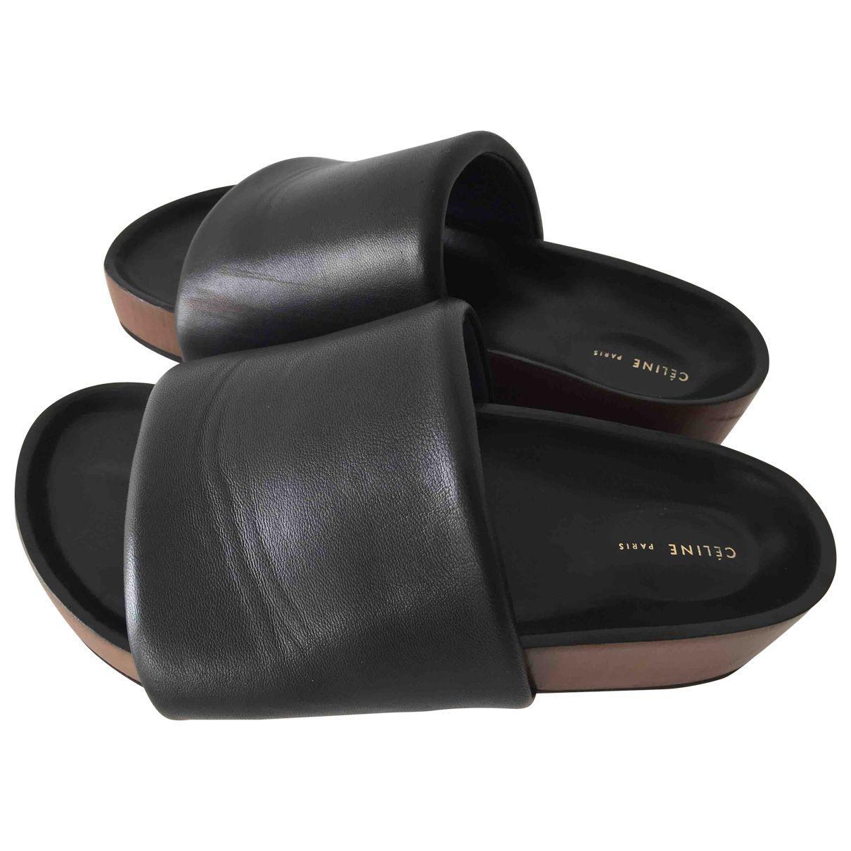 341e4b8984f Céline. Women s Black Leather Mules   Clogs. £441 From Vestiaire Collective