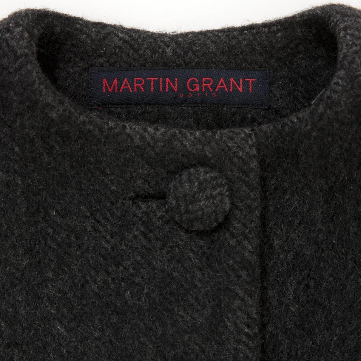 Mantel \\N en Laine Gris Laines Martin Grant en coloris Noir Vy0HE