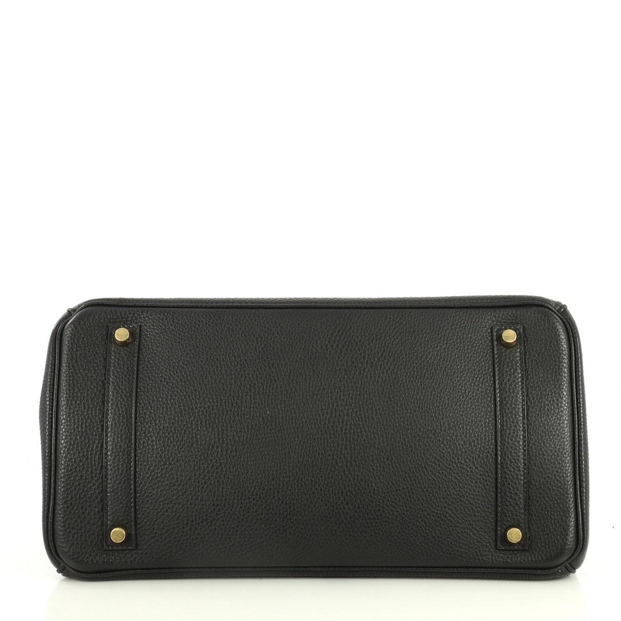 Sac à main Birkin 35 en Cuir Noir Cuir Hermès en coloris Noir Ul5L