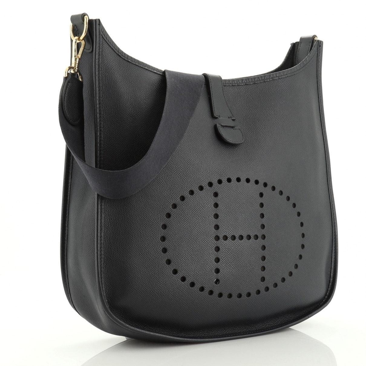 Hermès Leinen Handtaschen in Blau i8sNJ