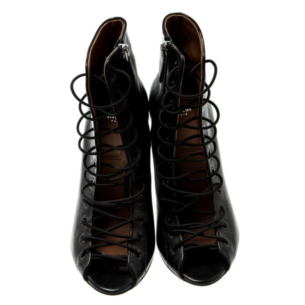 Botines en cuero negro Givenchy de color Negro