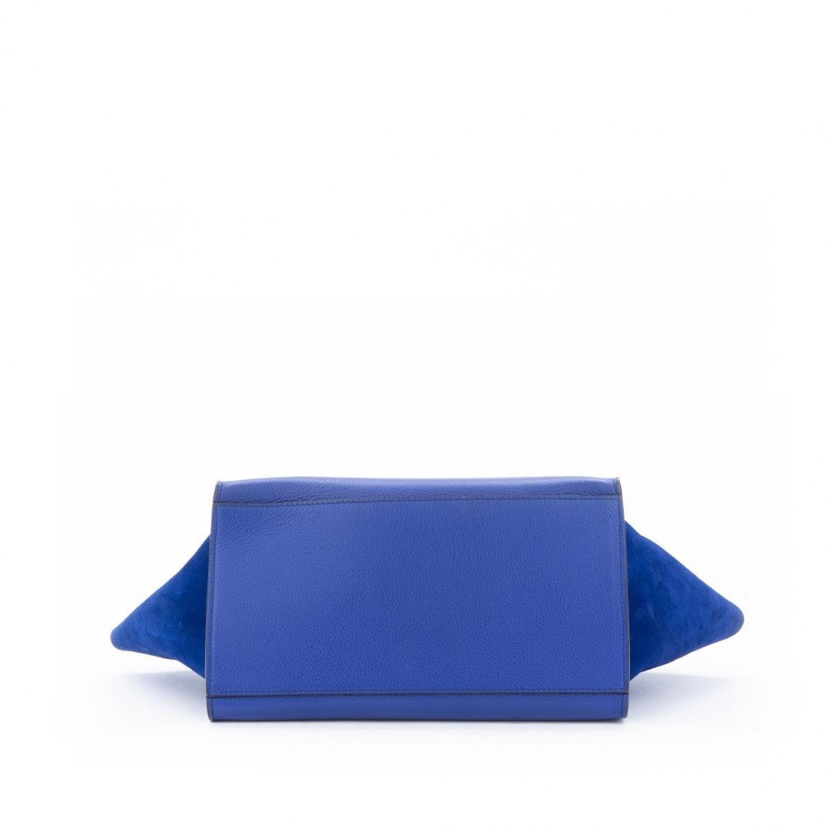 Sac à main Trapèze en Cuir Bleu Celine en coloris Bleu ehhS
