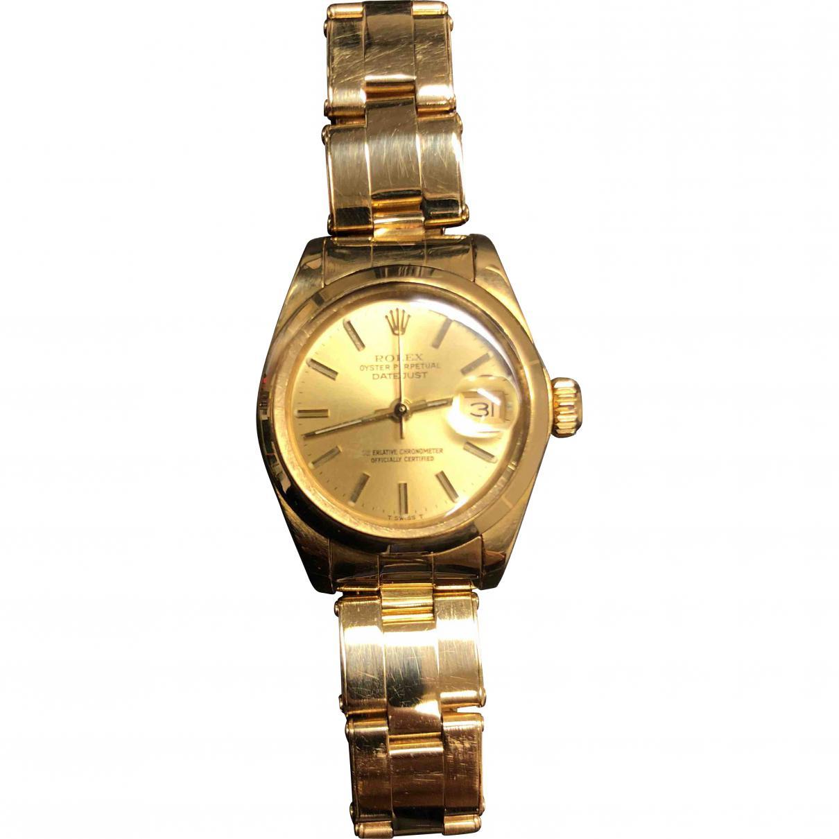 257806f2d8d Lyst - Montre Lady DateJust 26mm en or jaune Rolex en coloris Métallisé
