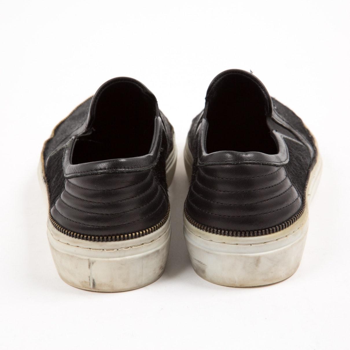 Deportivas en piel de potro de imitación negro The Kooples de Cuero de color Negro