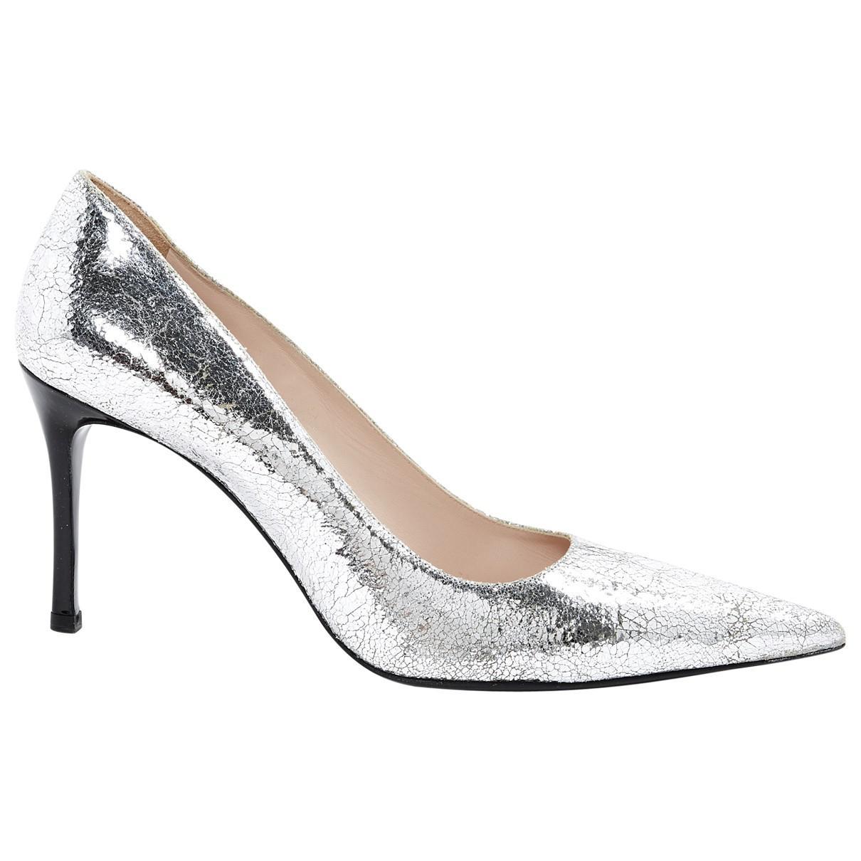 Pre-owned - Silver Leather Heels Miu Miu dpbWt9g
