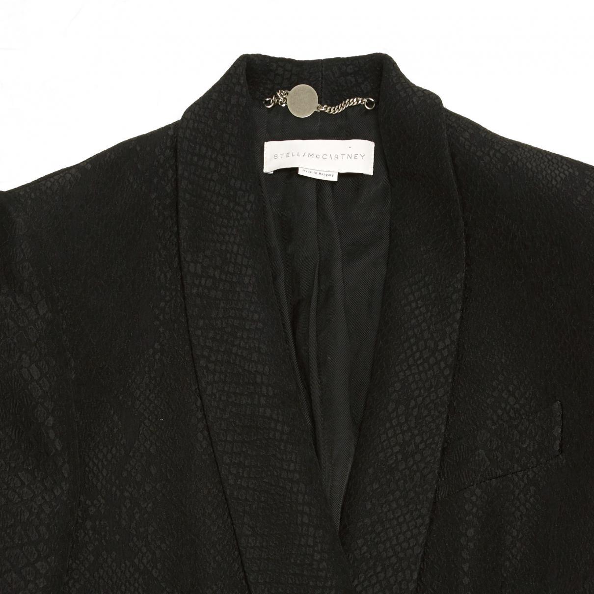 Black Stella McCartney Double Breasted Snakeskin Print Blazer Stella McCartney
