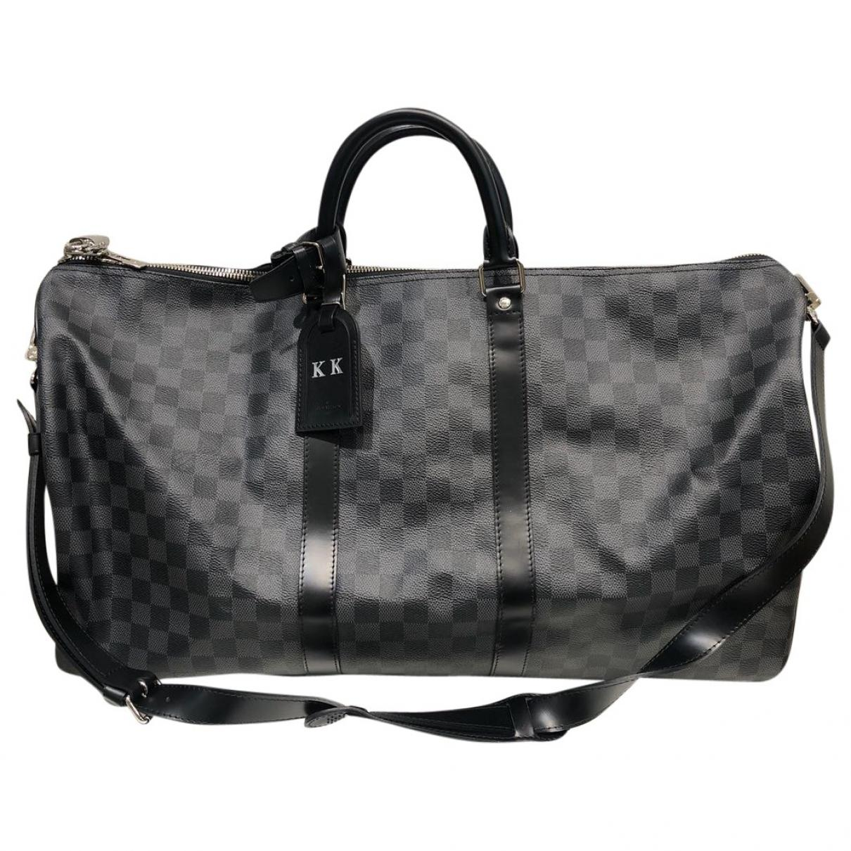 Lyst - Louis Vuitton Keepall Cloth Weekend Bag in Gray for Men 421fff9323fbe