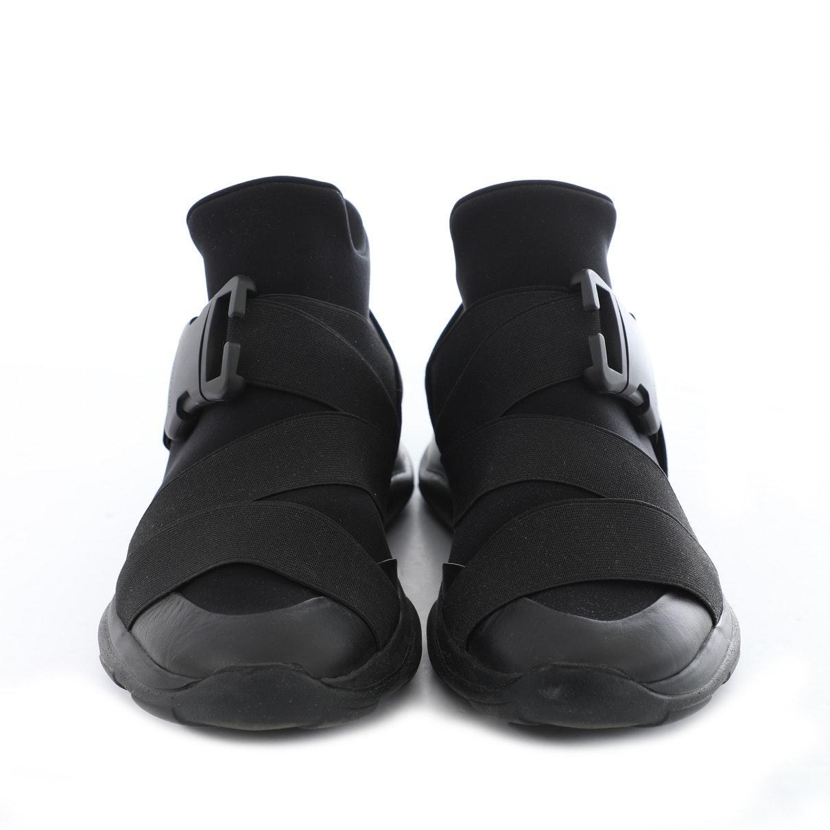 Deportivas en lona negro Christopher Kane de Neopreno de color Negro