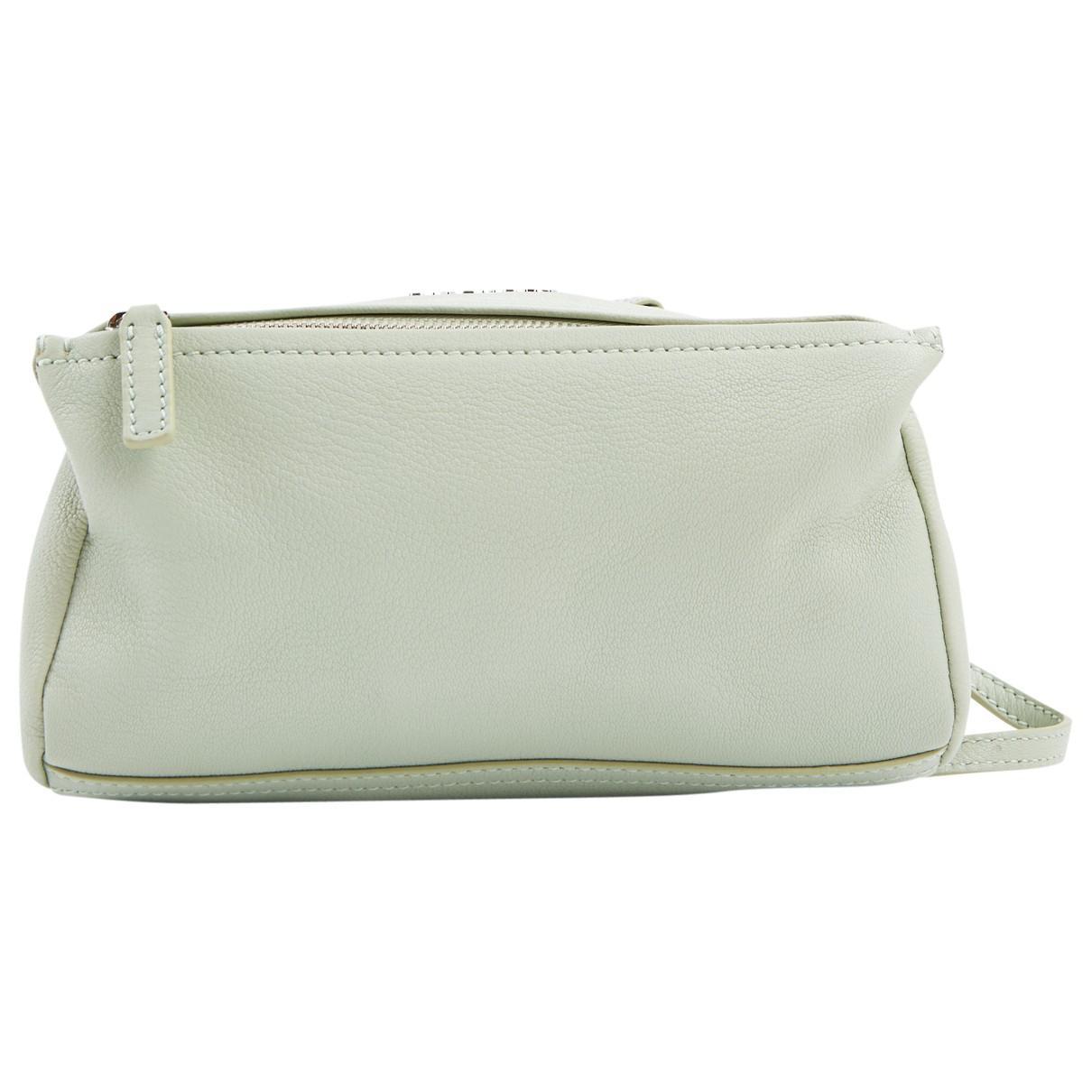 66b836df14 Givenchy Pandora Box Green Leather Handbag in Green - Lyst