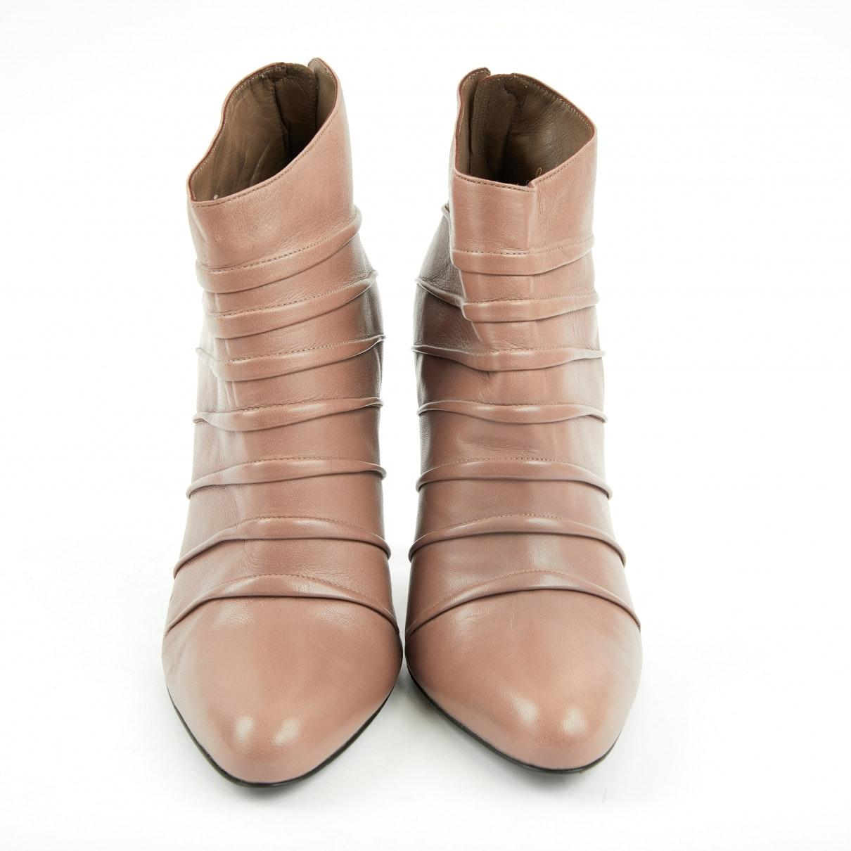 Barbara Bui n Pink Leather Ankle Boots